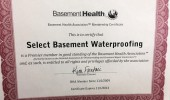 Basement Health Association Membership Certificate
