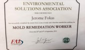 Certificate For Mold Remediation Worker