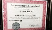 Certified Waterproofing Specialist