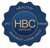 Healthy basement certification seal
