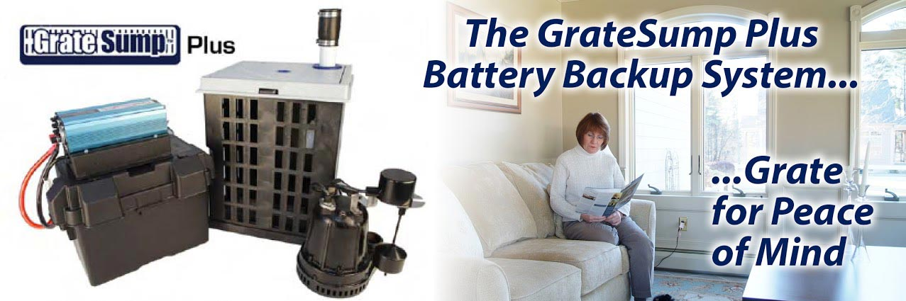 GrateSump™ Plus Battery Backup System in New Jersey